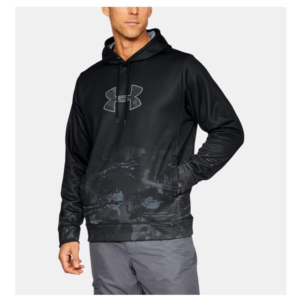 UA Men's Faded Caliber Hoodie In Black