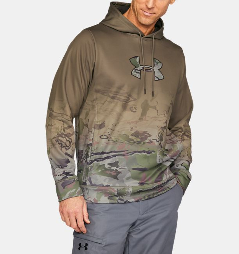UA Men's Faded Caliber Hoodie In Blast / Maverick Brown