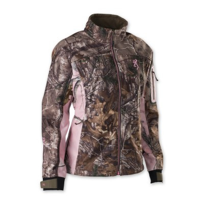 Browning Hell's Belles Soft Shell Jacket, RTX/Pink