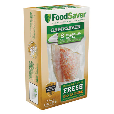 "FoodSaver Heat-Seal Rolls, 8"", 2 pk"