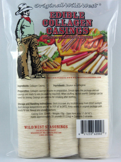 Wild West Edible Collagen Casings, 23 mm (85g)