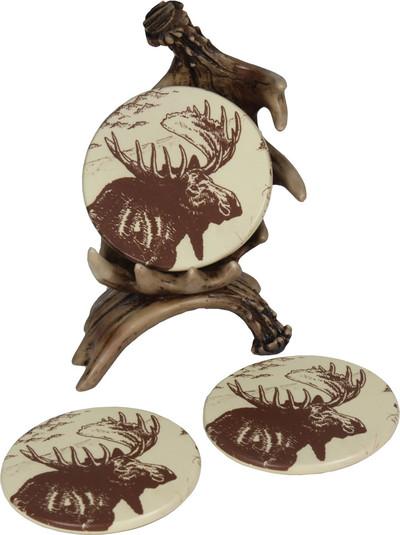 Rivers Edge Moose Coaster Set