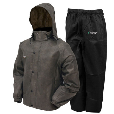 Frogg Toggs Rain Suit In Stone & Black