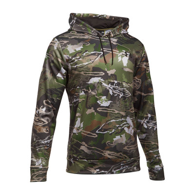 UA Icon Camo Hoodie - Ridge Reaper Forest / Cannon - Front View