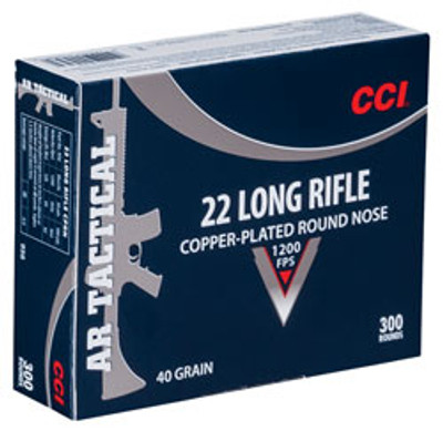 CCI 22 Long, 29 Gr Copper-Plated RN, AR Tactical, 300 ct