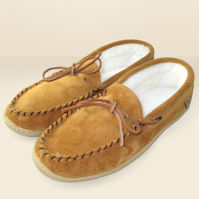 Men's Suede Moccasin With Rubber Sole