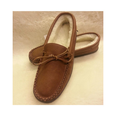 Men's Suede Moccasin With Lining And A Padded Sole