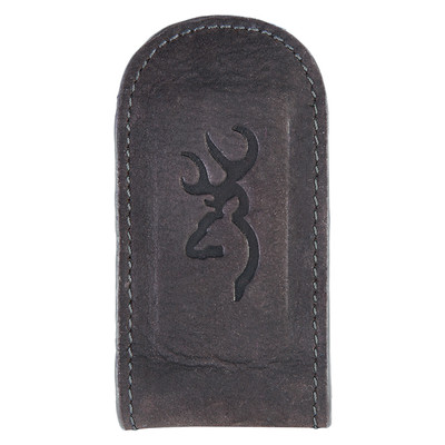 Browning Black Leather Money Clip