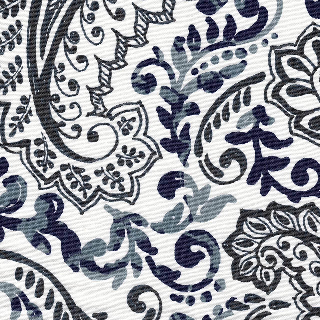 Shannon Vintage Indigo Floral Paisley Shower Curtain