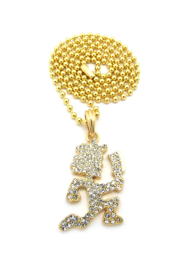 ICP Inspired Hatchetman Hip Hop Pendant Chain Gold