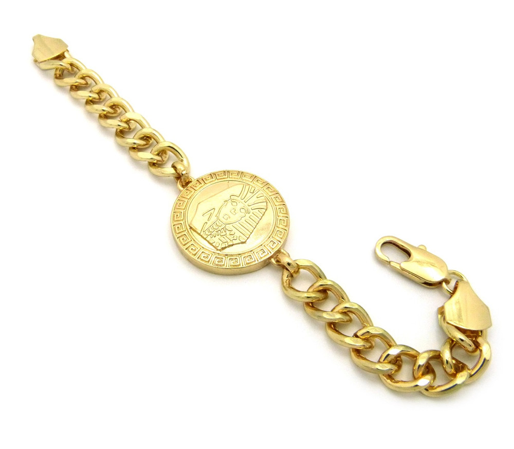 Mens Hip Hop Egyptian King Tut Bracelet Gold
