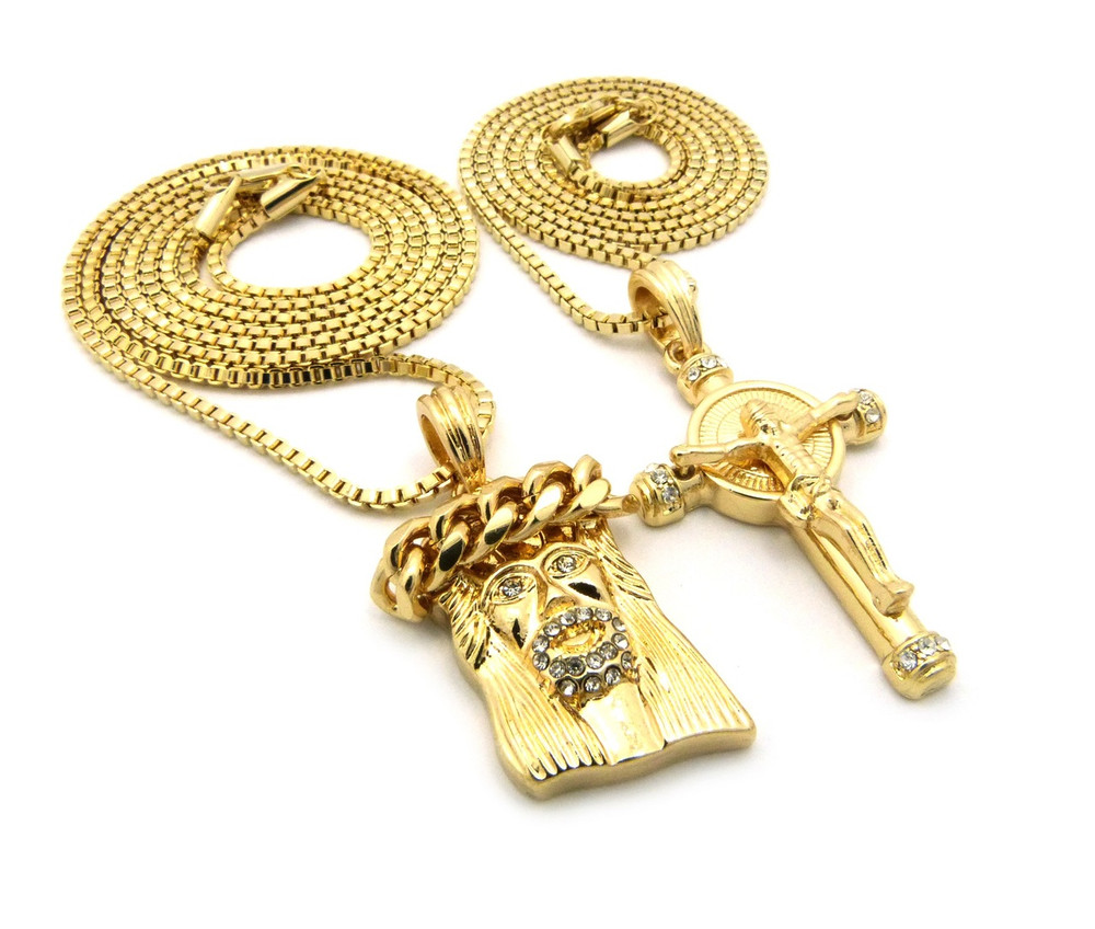 14k gold iced out beard god son micro jesus piece pendant bling jewelz god son micro jesus piece pendant 14k gold jesus cross pendant aloadofball Images