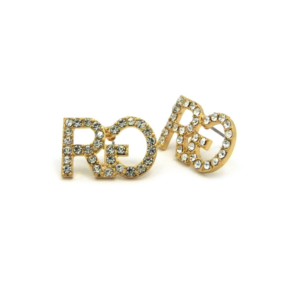 Hip Hop Rich Gang Inspired Bling Earrings Gold