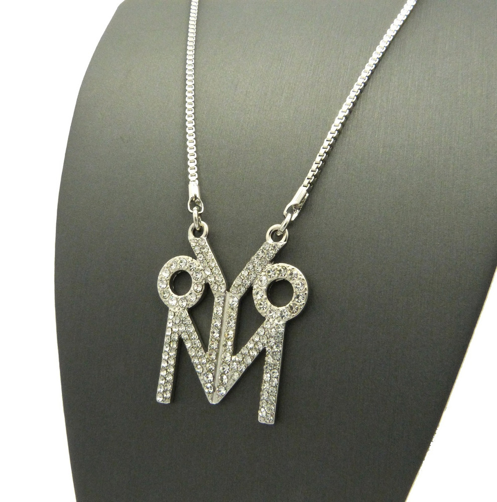 Hip Hop Young Money Inspired OVO Chain Necklace Silver