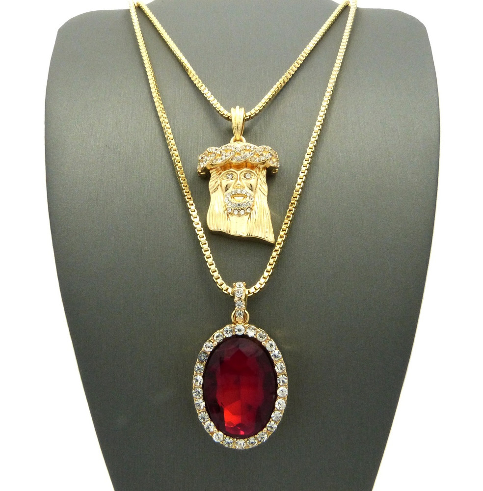 atelier front ruby y valani r pendant necklace products vohk top