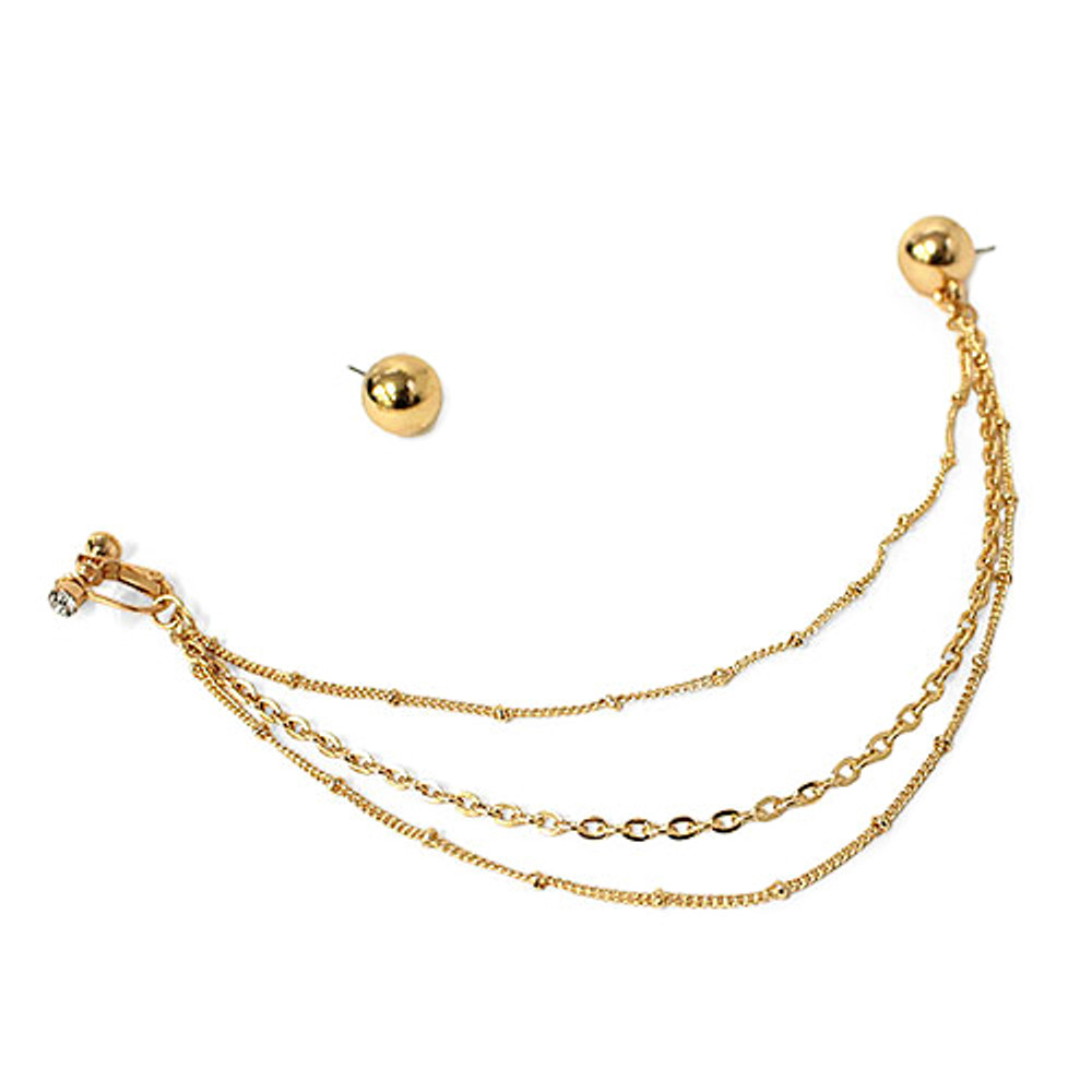 Nose Earring Chain Gold