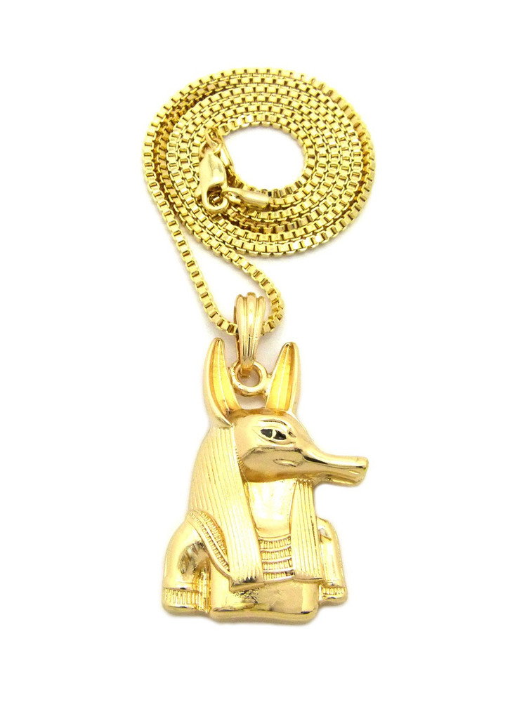 Egyptian God 14k Gold Anpu Anubis