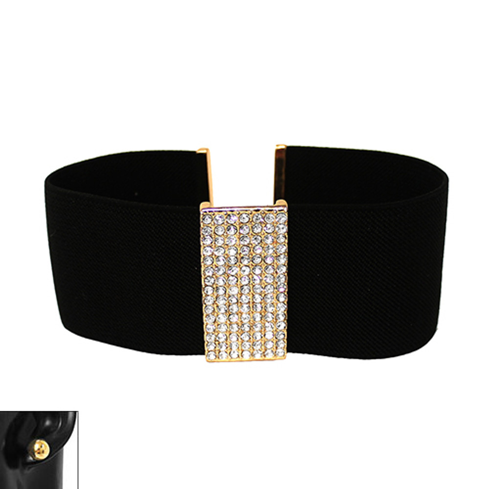 Thick Sexy Slave Collar Choker Necklace Bling Earrings Set
