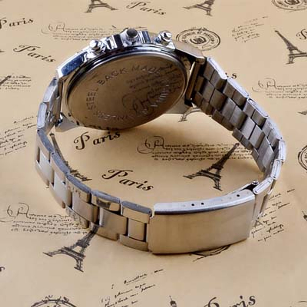 Men's Business Clasic Stainless Steel Band Machinery Watch