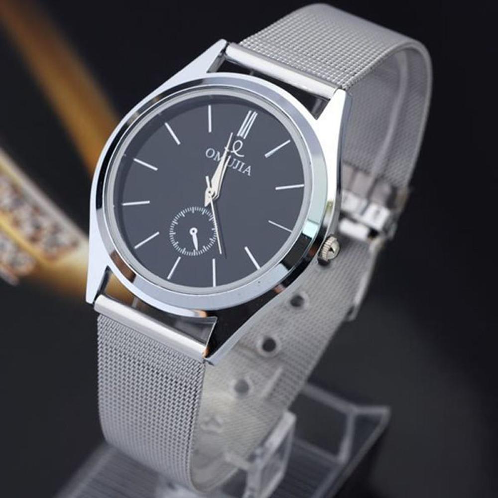 Men's Clean Look Fashion Luxury Stainless Steel Silver Watch