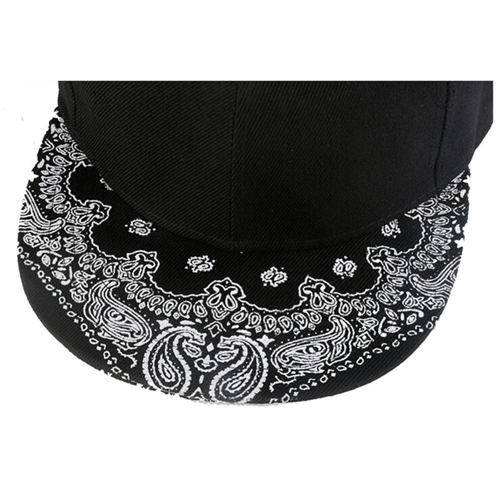 Black Paisley Snapback Hip Hop Dope-Boy Hat