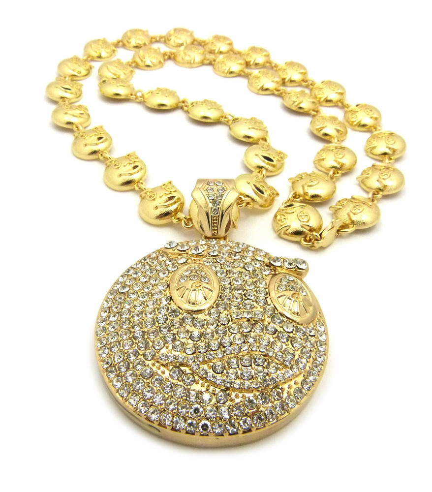 Chief Keef Inspired Glo Gang 14k Gold Hip Hop Bling Chain