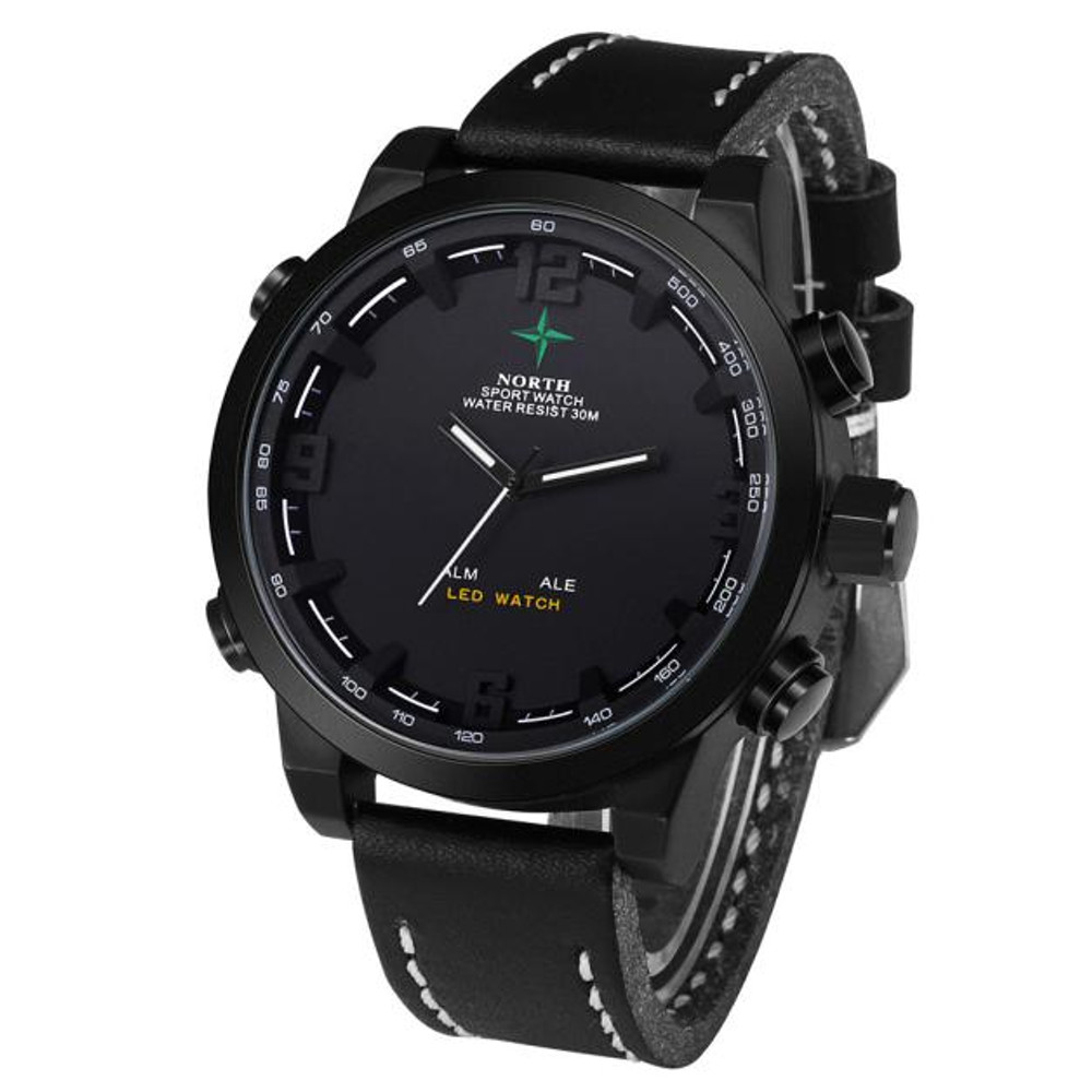 Casual Hip Hop Wrist Watch Black