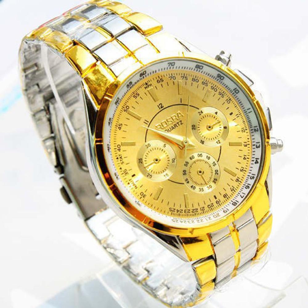 14k Gold SS Luxury Watch