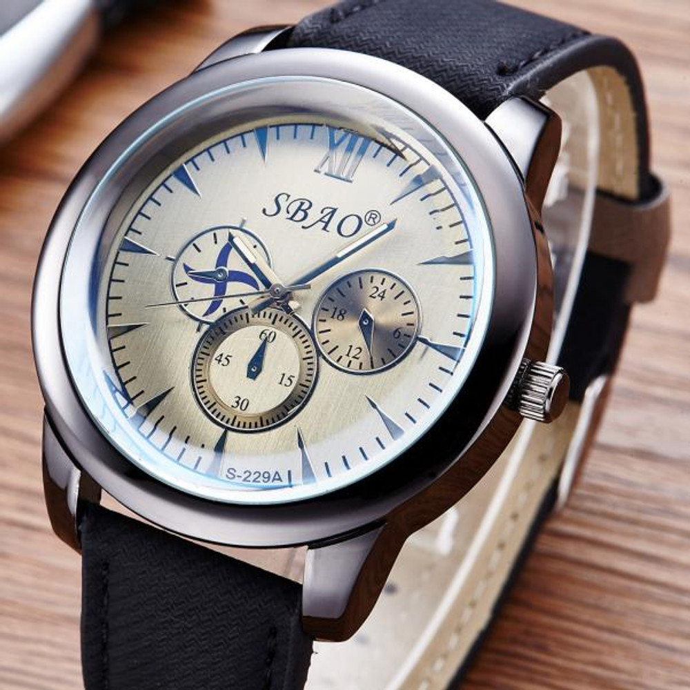 High Fashion Chronograph Style Leather Classic Watch