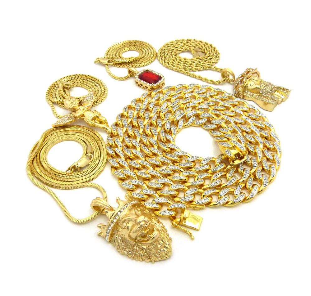 14k Gold God Of Mercy Ultra Baller Hip Hop Pendant Chain