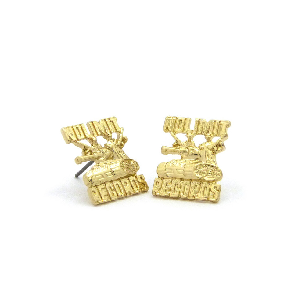 No Limit Inspired Hop Hop Earrings Gold
