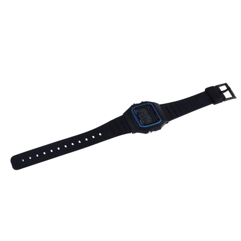 80's Retro Fashion Vintage Digital Wristwatch Black