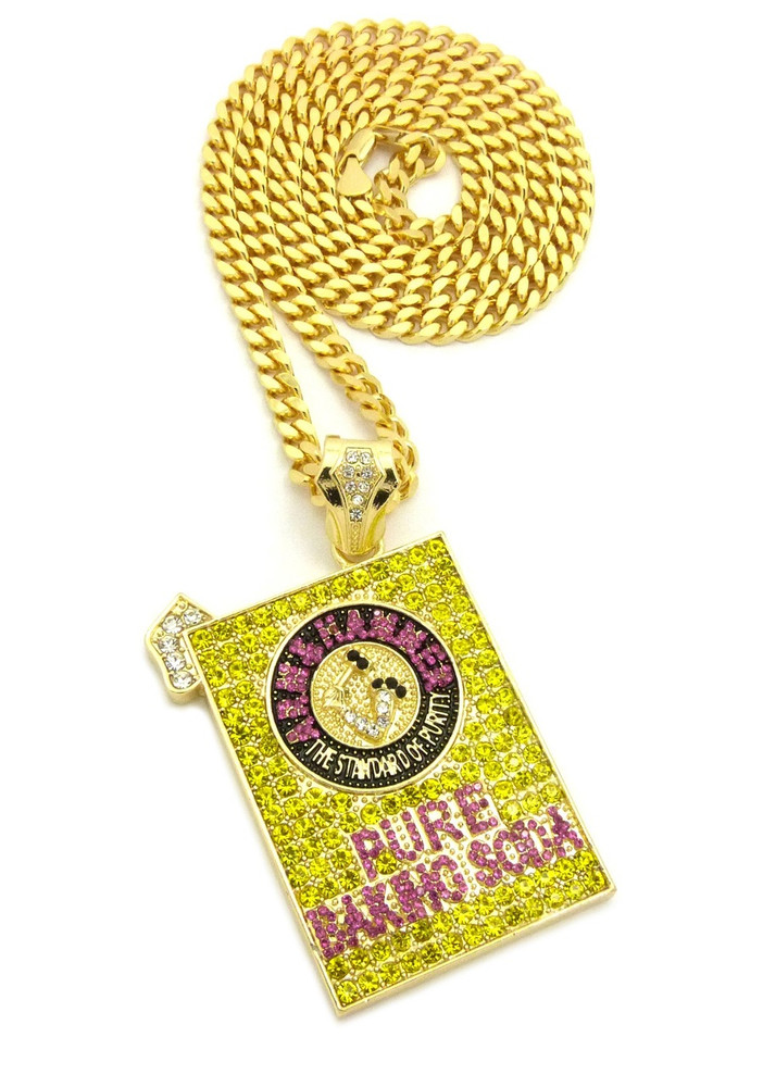14k Gold Pure Baking Soda Hip Hop Pendant