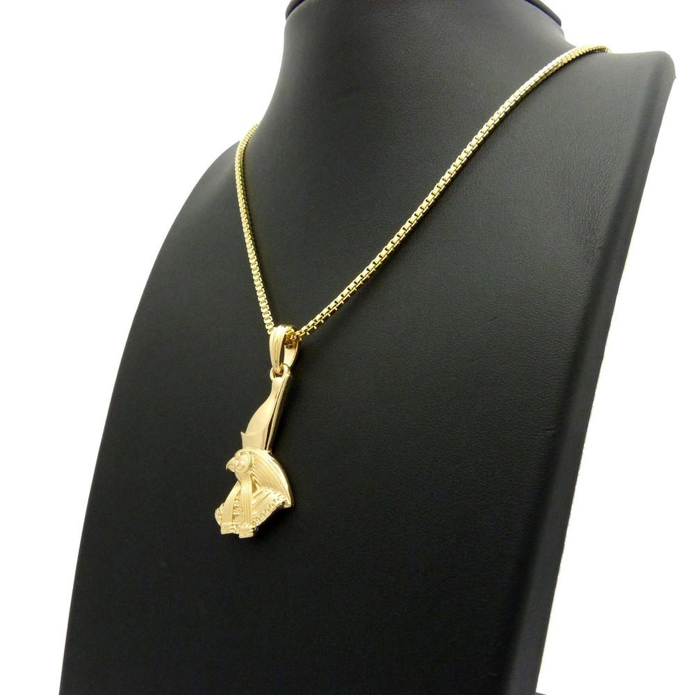 14k Gold God Horus Ancient African Pendant