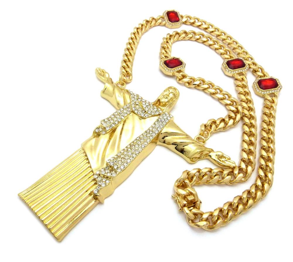 Cuban Link Ruby Chain Pendant