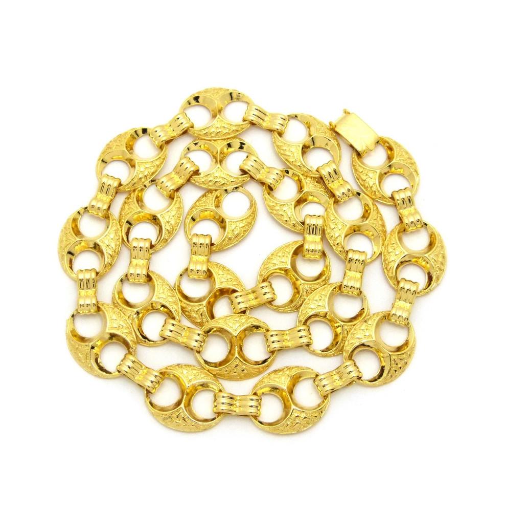 17mm 14k Gold Nugget Marina Hip Hop Big Boy Chain