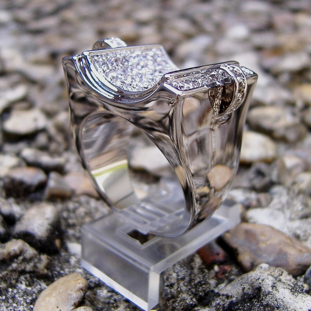 .925 Sterling Silver Hip Hop Ring