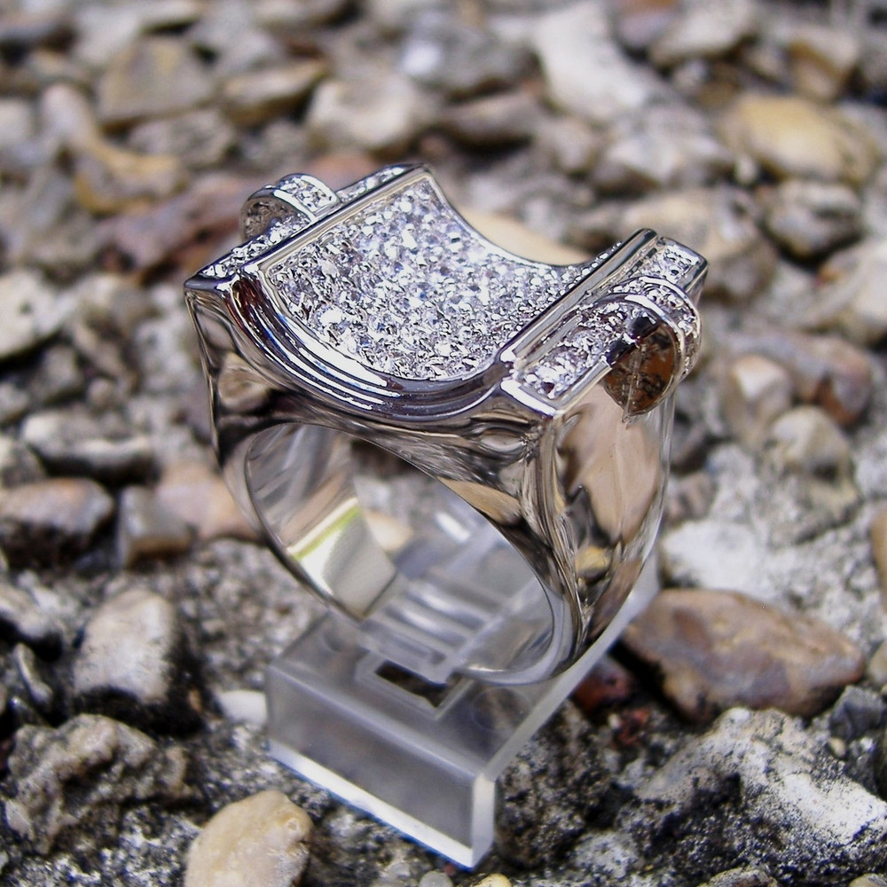 Micro Pave Concave Ring