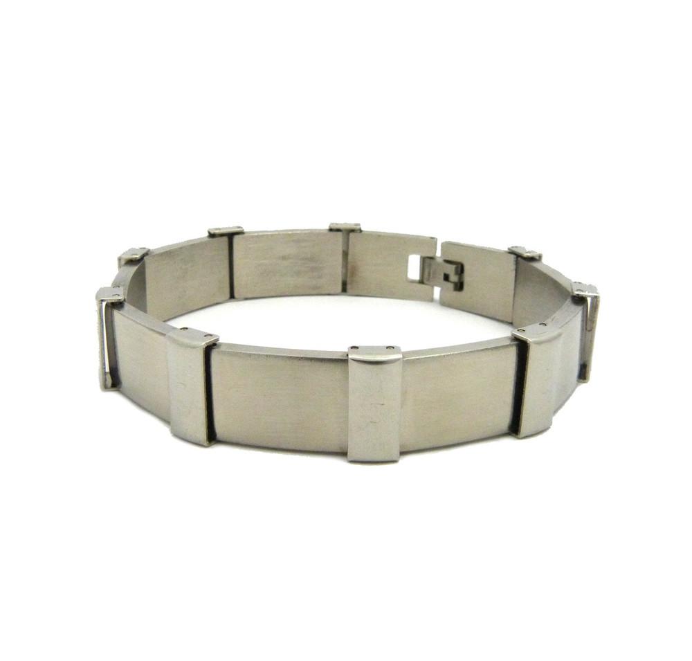 Thick Rivet Link Solid 316L Stainless Steel Bracelet