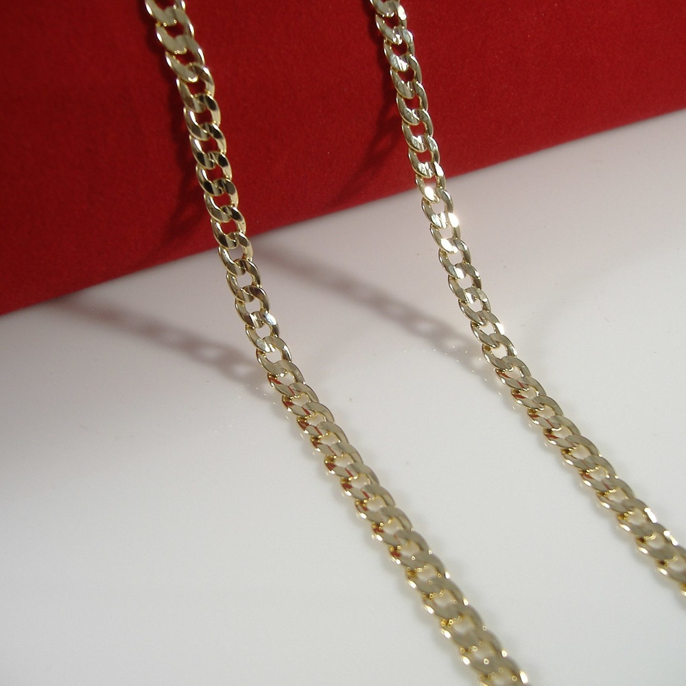 mens necklace silver trendsmax com womens zibbor yellow curb jewelry chain gold