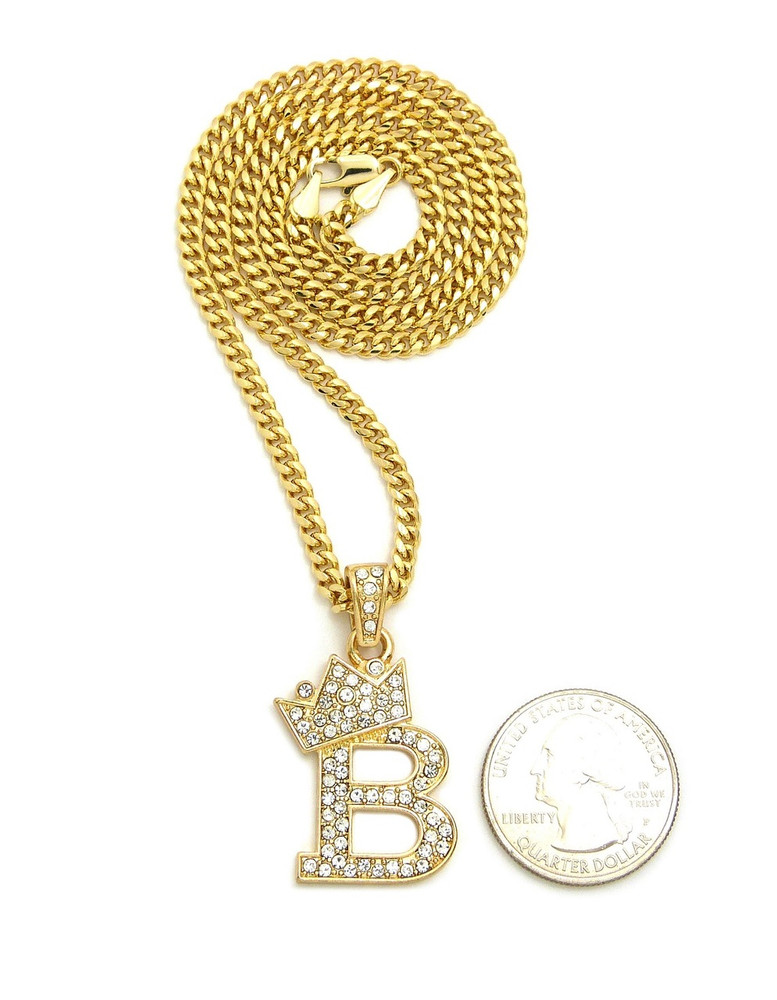 pendants initial diamond gold pendant necklace letter b