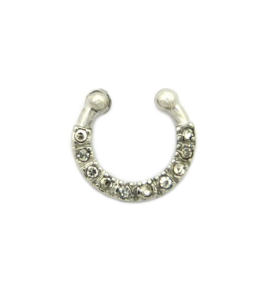 Diamond Cz Original Horseshoe Studded Nose Ring