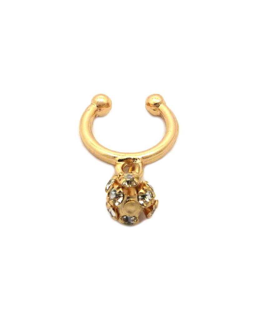 Dangling Horseshoe Studded Nose Ring