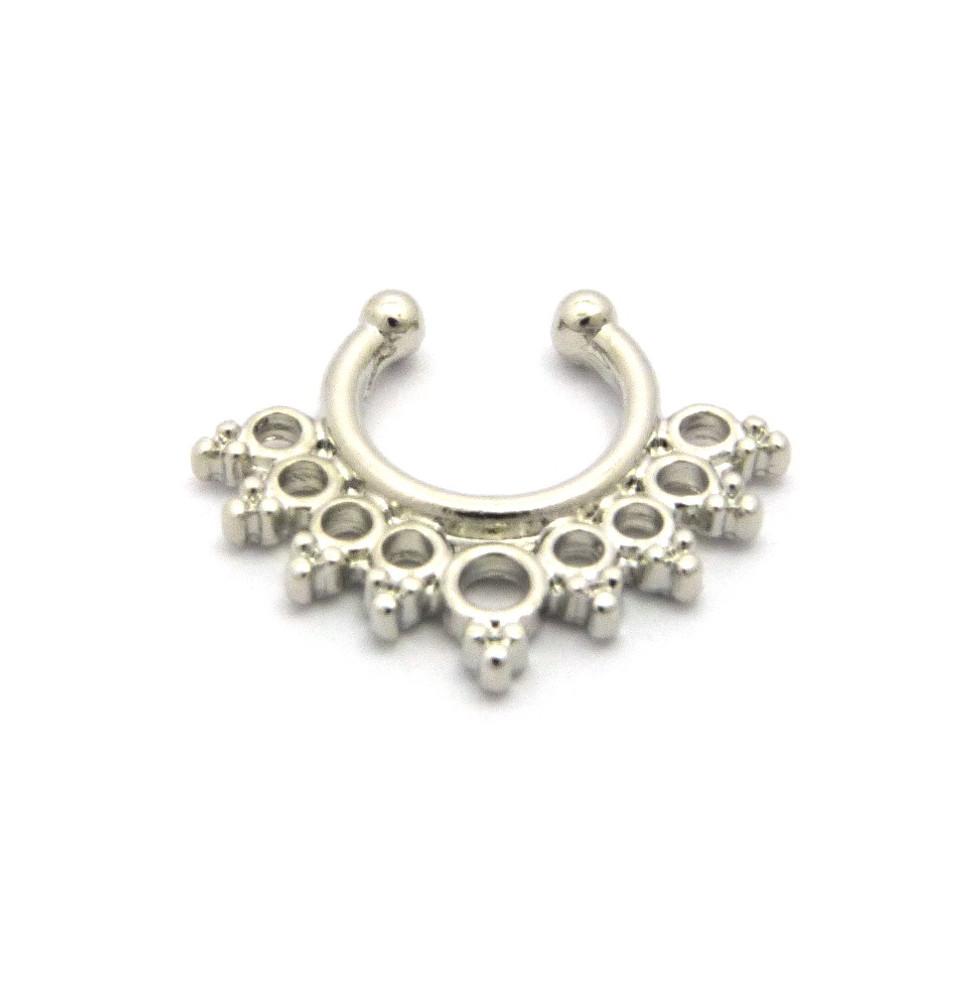 Triple Circle Horseshoe Nose Ring