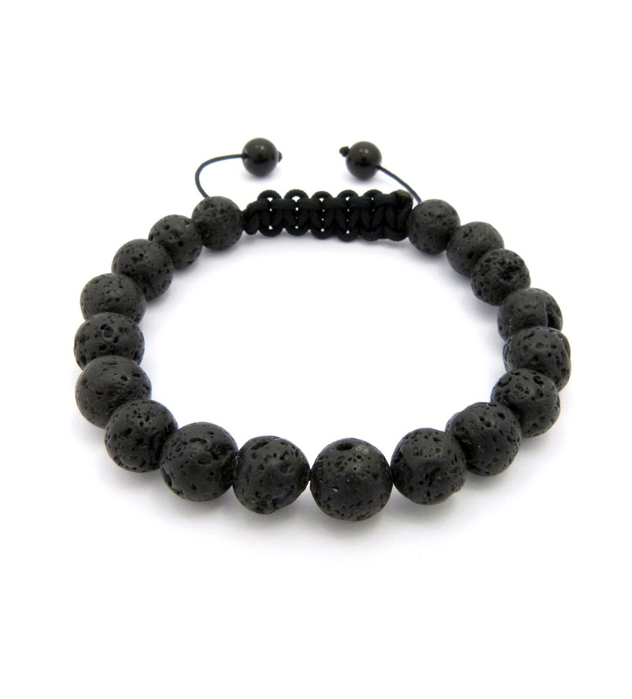10mm Volcanic Rock Lava Stone Beads Bracelet