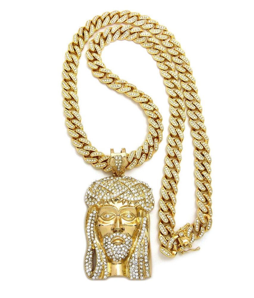 piece shop gold solid gld jesus pendant the products