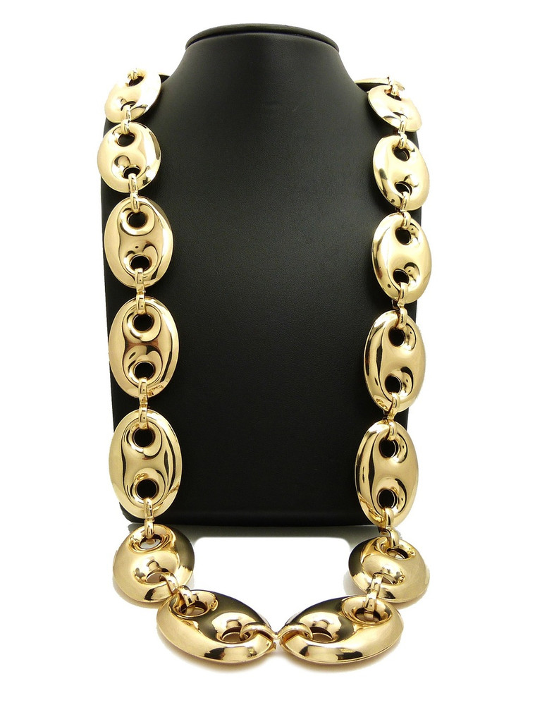 14k Gold Old School G Link Style Hip Hop Chain Necklace Bling Jewelz