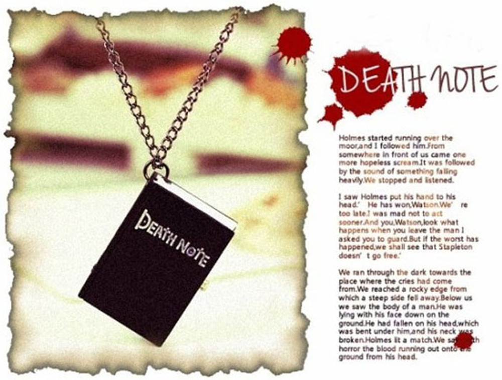 New Unique Death Note Bronze Necklace Chain Pocket Watch