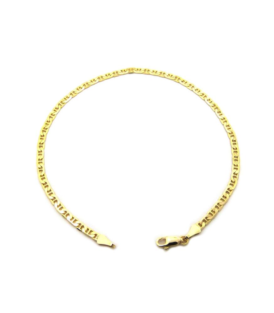 14k Gold 3.4mm G-Link Link Ankle Bracelet