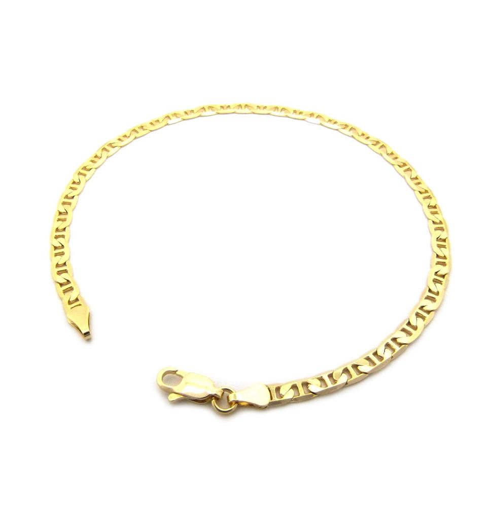 14k Gold 4.4mm G-Link Link Ankle Bracelet